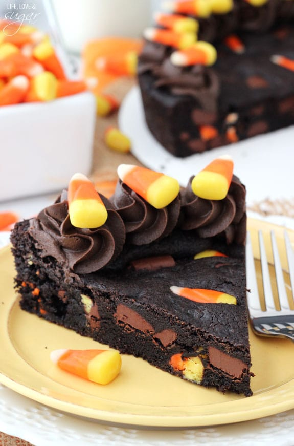 candy corn chocolate chip cookie cake.