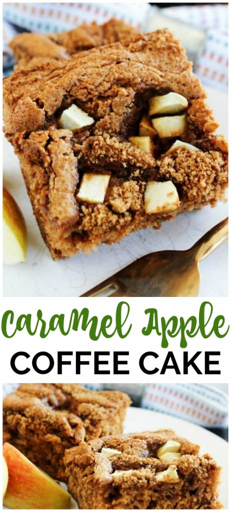 Caramel Apple Coffee Cake pinterest image