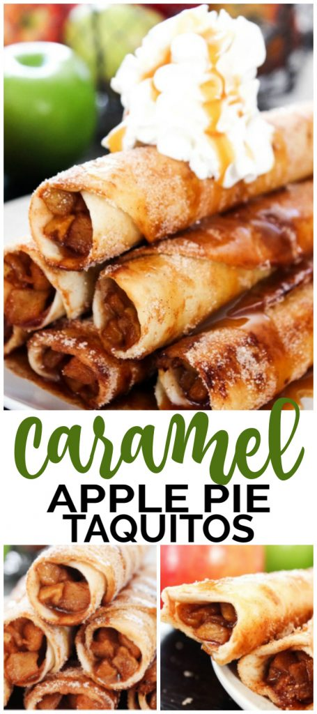 Caramel Apple Pie Taquitos pinterest image