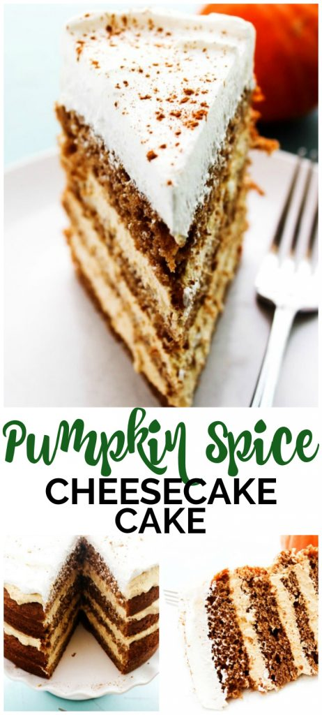 Pumpkin Spice Cheesecake Cake pinterest image