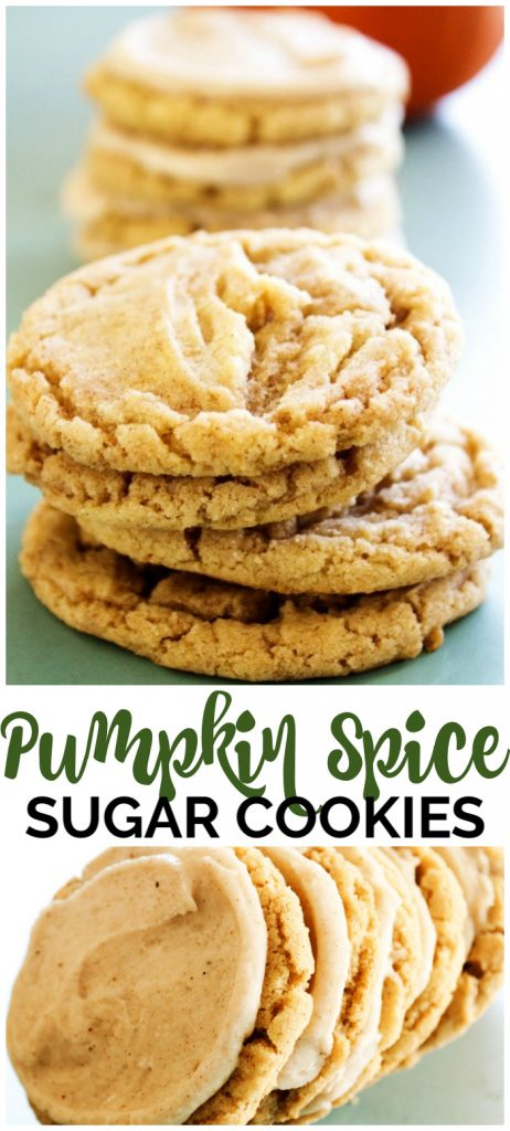 Pumpkin Spice Sugar Cookies pinterest image