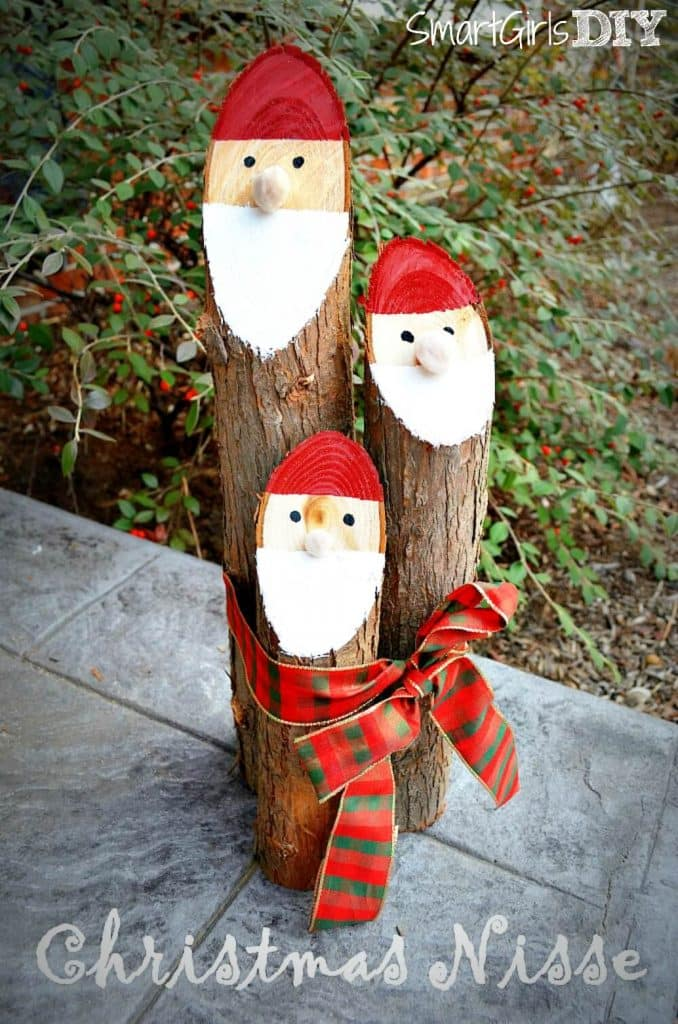 DANISH NISSE CHRISTMAS CRAFT (SANTA LOGS)