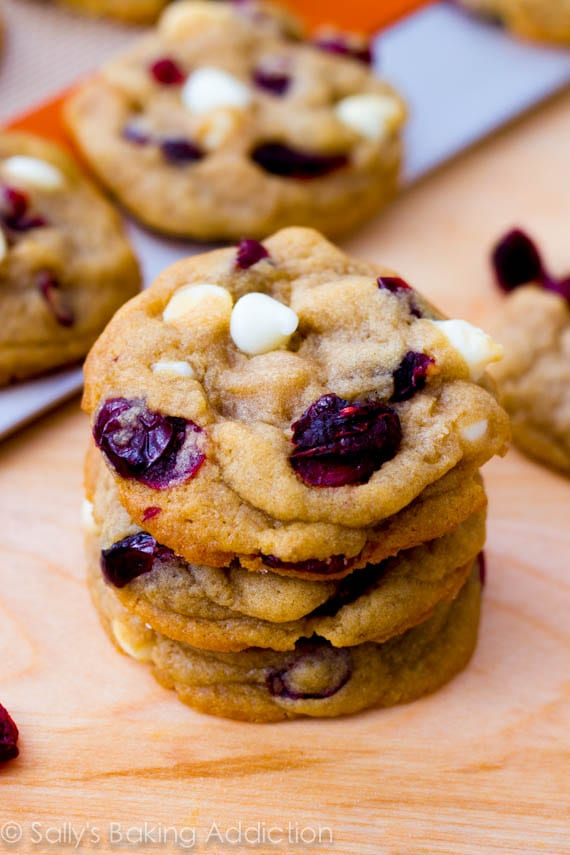 Soft Baked White Chocolate Chip Cranberry Cookies