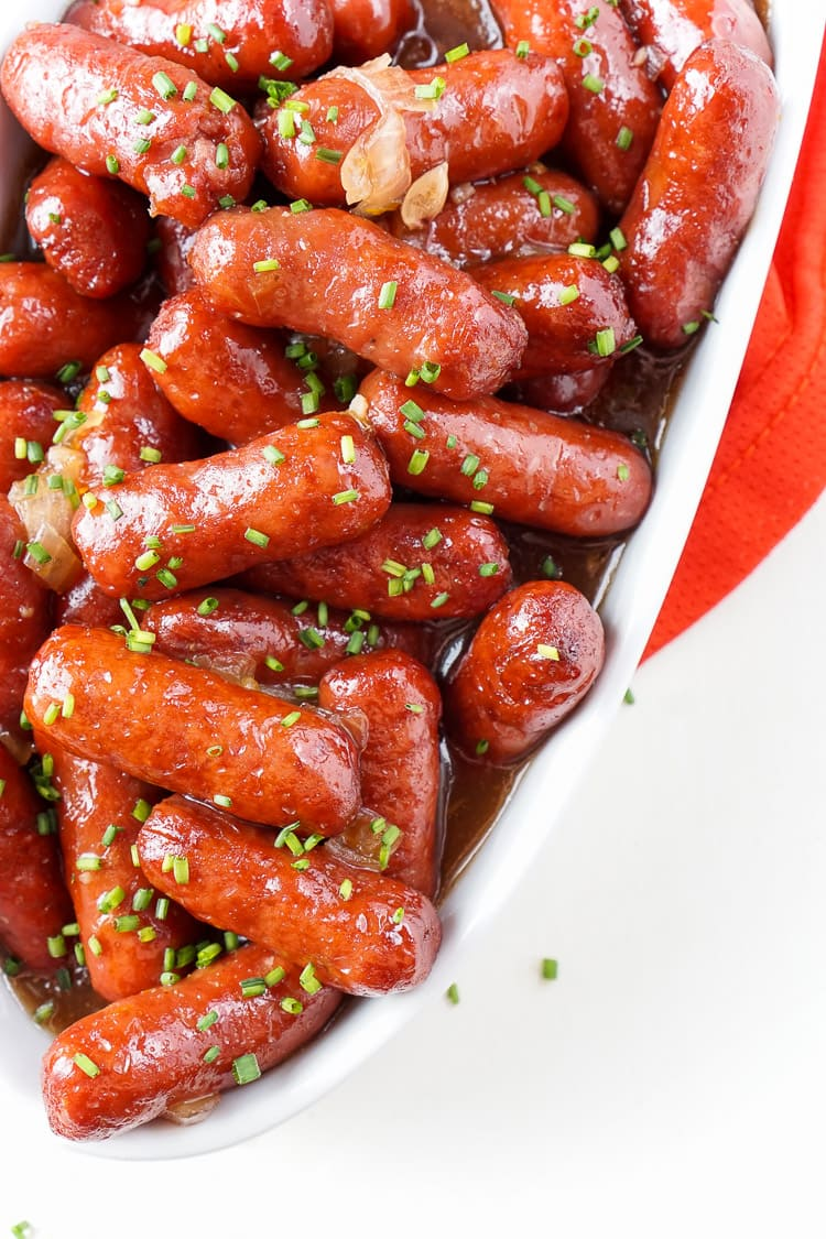 Spicy Blood Orange Lit'l Smokies Sausages appetizer