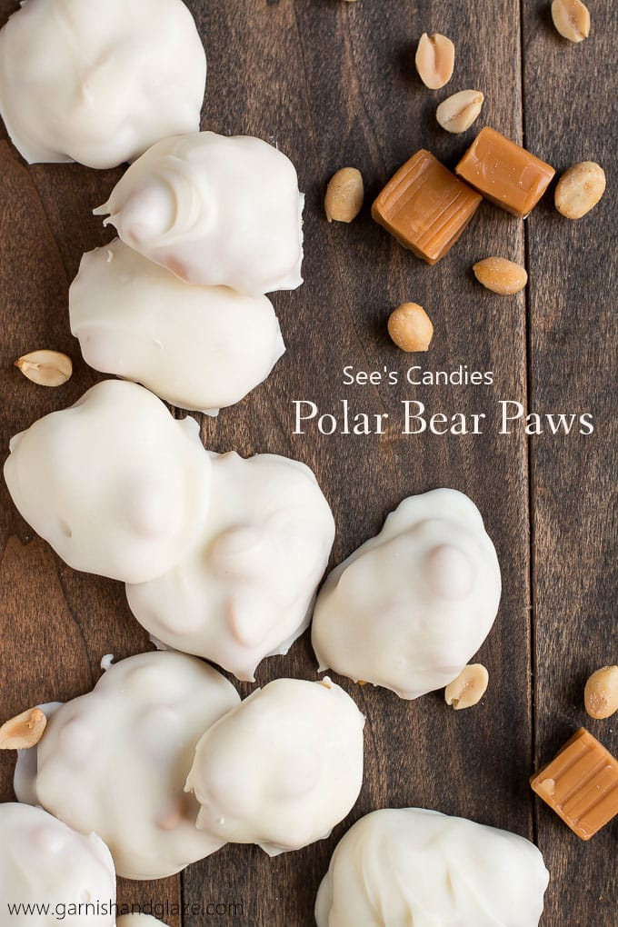 Polar Bear Paws caramel peanuts white chocolate