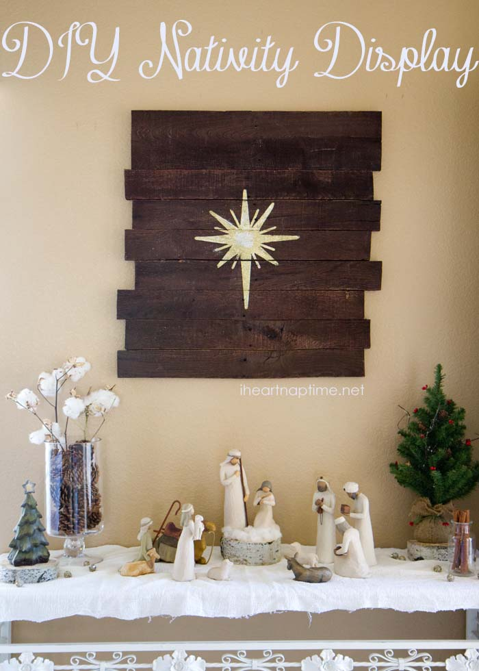 DIY NATIVITY DISPLAY