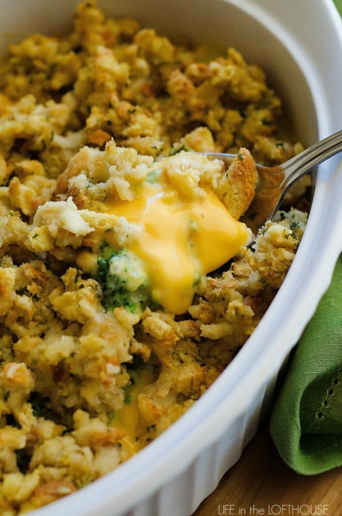 CHEESY STUFFING CASSEROLE