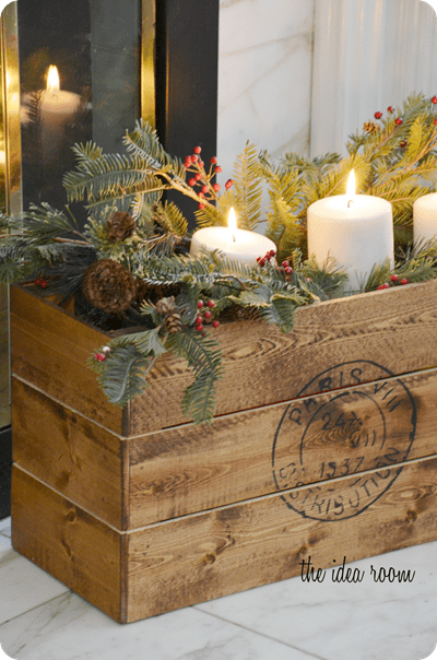 CHRISTMAS VINTAGE DIY CRATE