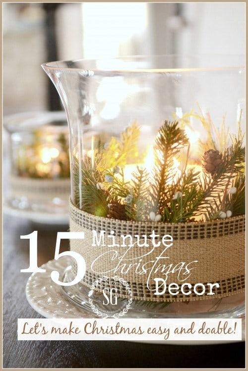 15-MINUTE CHRISTMAS DECOR