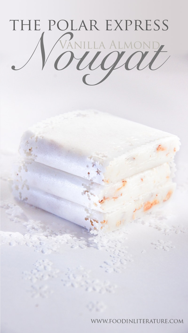 Polar Express Nougat vanilla almond candy