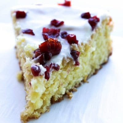 Cranberry Orange Cornmeal Pound Cake