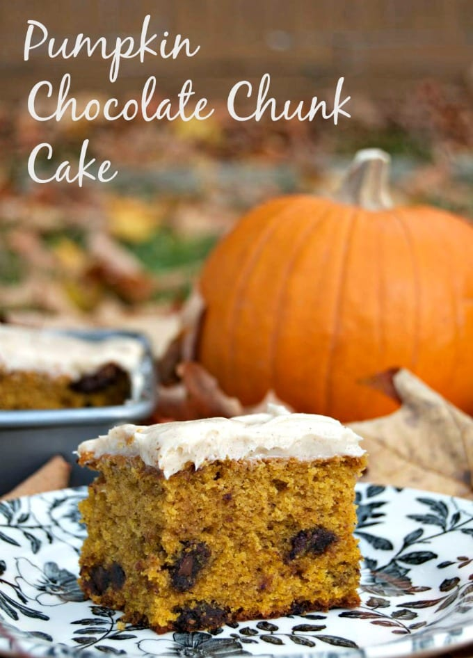 Pumpkin Chocolate Chunk Cake