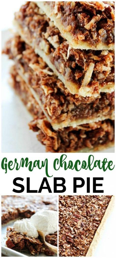German Chocolate Slab Pie pinterest image (1)