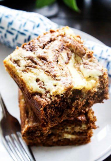 Chocolate Pumpkin Cream Cheese Swirled Coffee Cake