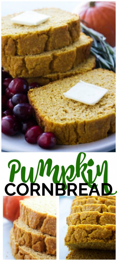 Pumpkin Cornbread pinterest image