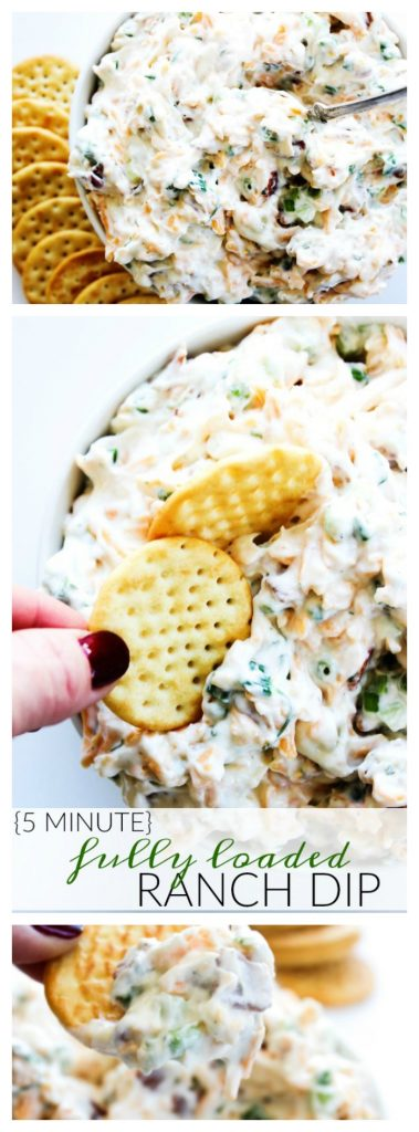 (old photos) 5 Minute fully loaded Ranch dip server with saltine crackers