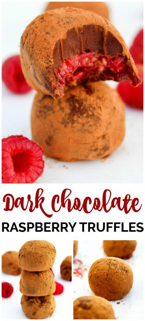 Dark Chocolate Raspberry Truffles pinterest image