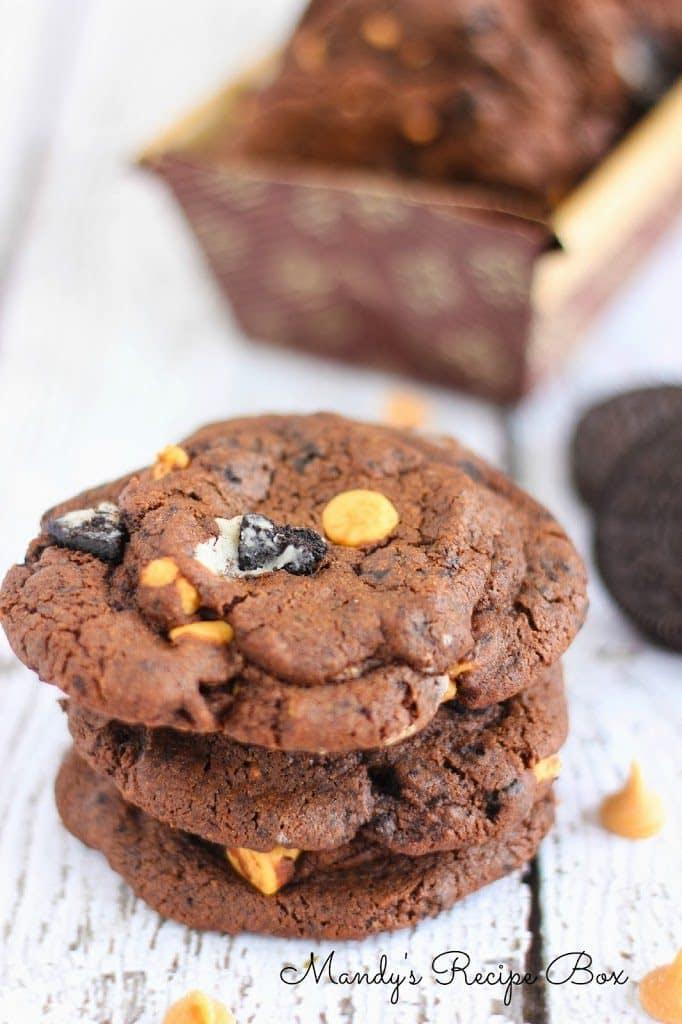 Chocolate Peanut Butter Oreo Cookies