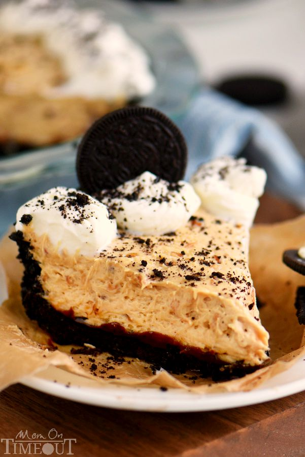 No Bake Peanut Butter Cheesecake Pie