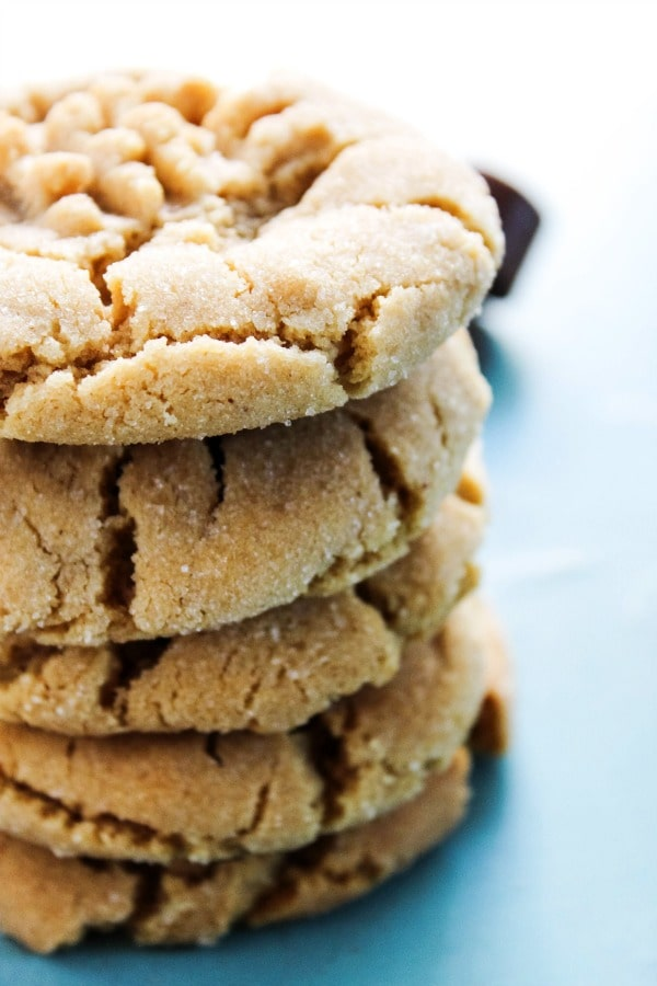 Rolo Stuffed Peanut Butter Cookies are soft and chewy peanut butter cookies with a delicious, melt in your mouth chocolate & caramel center.