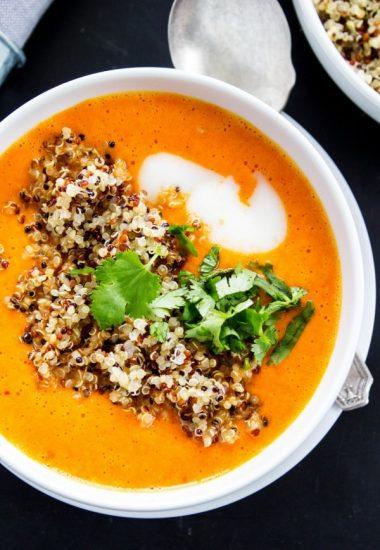 Thai Curry Red Pepper Quinoa Soup