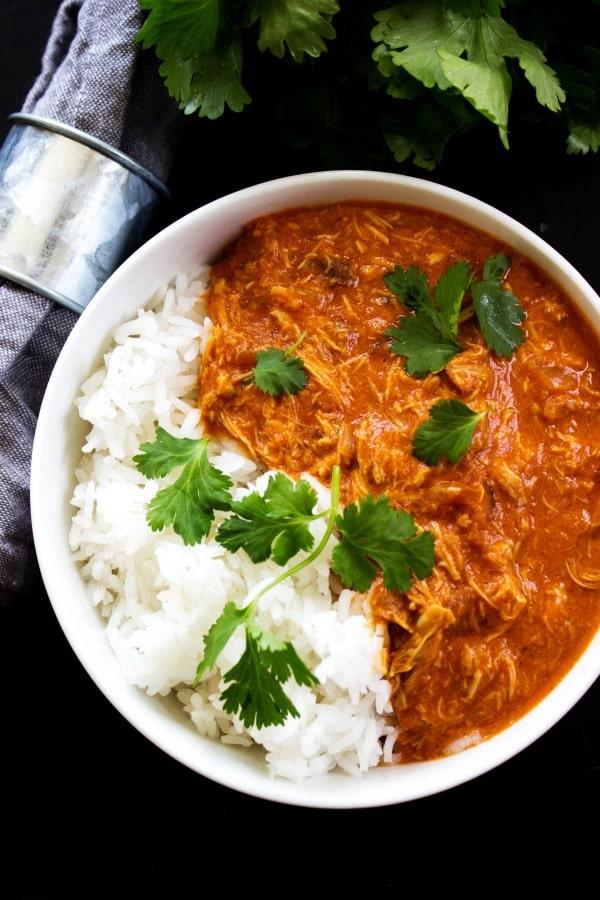 Healthy Slow Cooker Chicken Tikka Masala