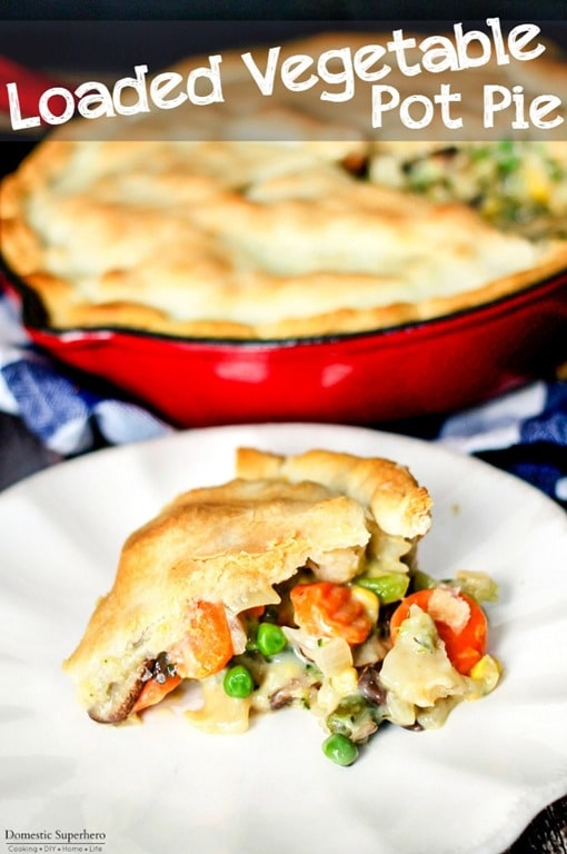30 Minute Loaded Vegetable Pot Pie