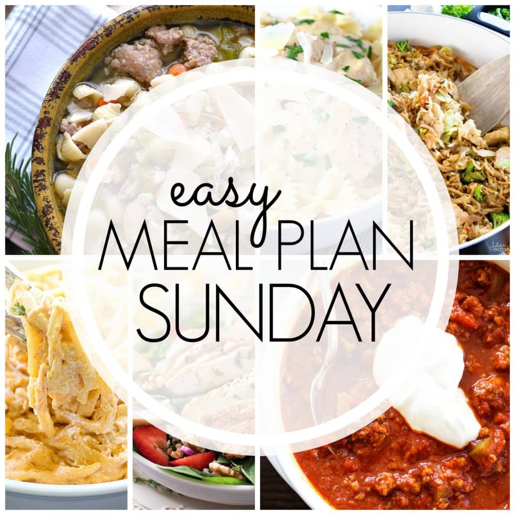 Easy Meal Plan Sunday {Week 82}