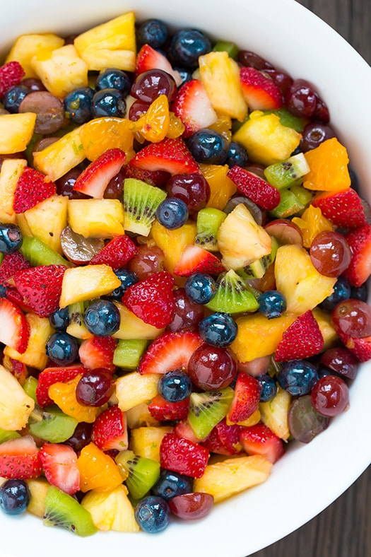 HONEY LIME RAINBOW FRUIT SALAD