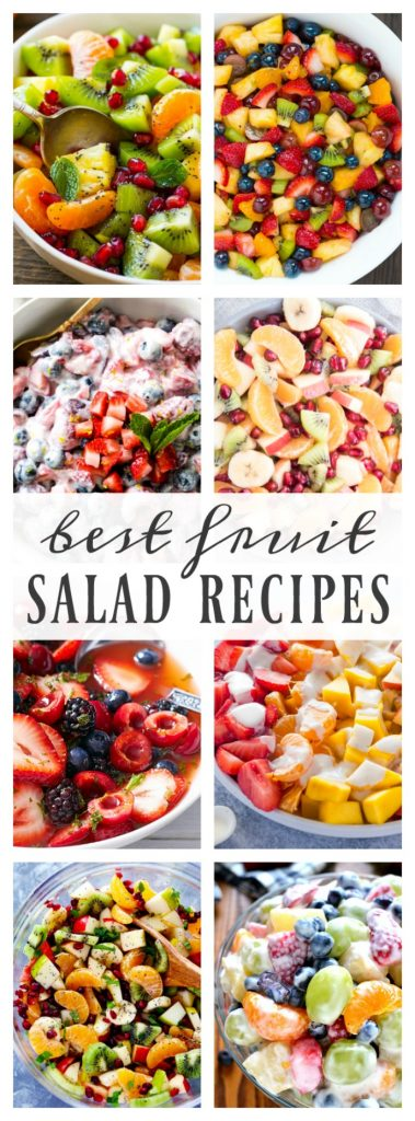Pin collage of salad recipes