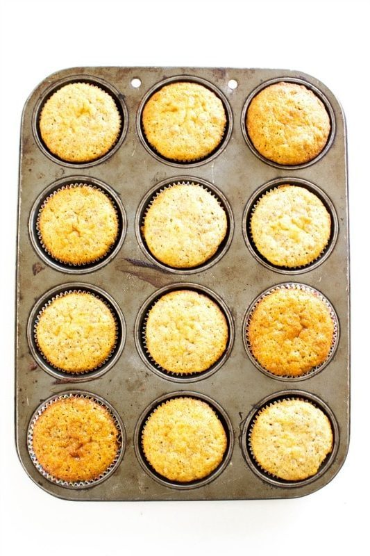 top down photo of a dozen Best Ever Bran Muffins in metal muffin pan
