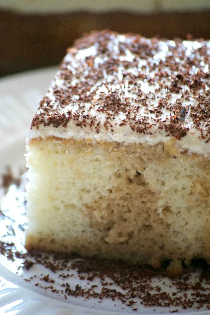 Easy Tiramisu Poke Cake