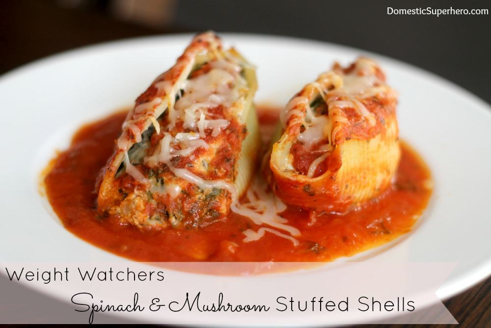 Spinach & Mushroom Stuffed Shells