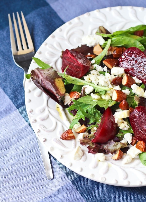 SALAD WITH BEETS AND FETA WITH DIJON VINAIGRETTE