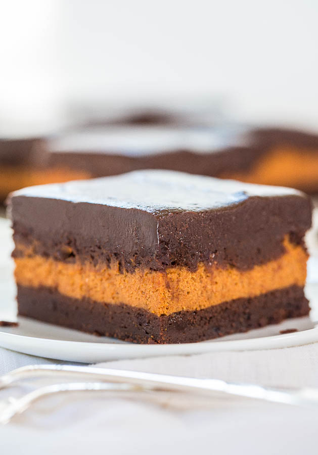 THE BEST PUMPKIN CREAM CHEESE FILLED BROWNIES