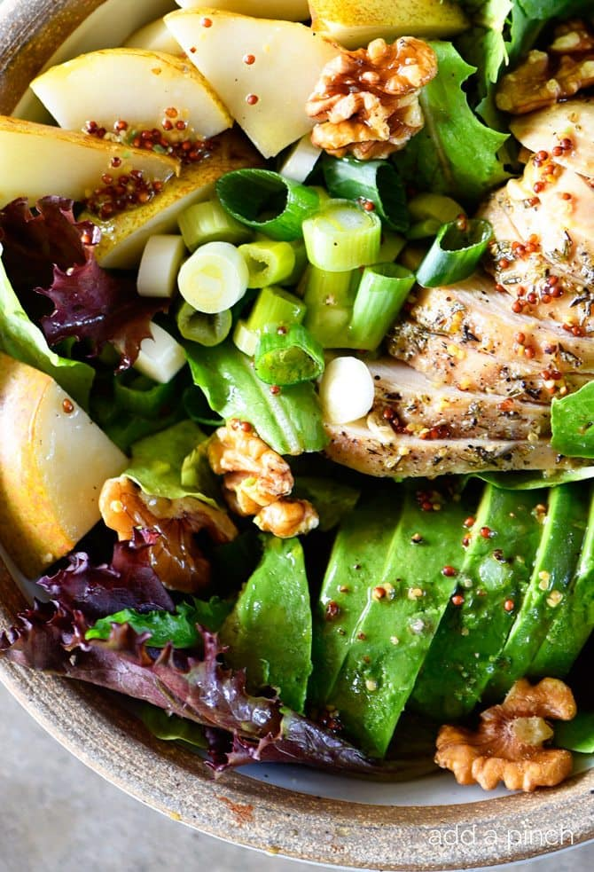 FALL CHICKEN AVOCADO PEAR SALAD RECIPE