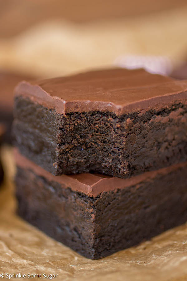 TRIPLE DARK CHOCOLATE TRUFFLE BROWNIES