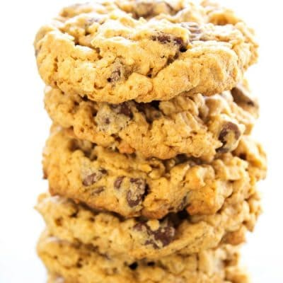 CHEWY OATMEAL PEANUT BUTTER CHOCOLATE CHIP COOKIES