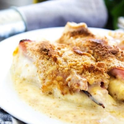 creamy-chicken-cordon-bleu-casserole-close-up