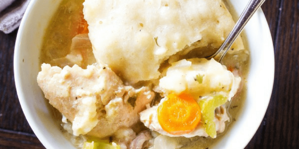 SLOW COOKER CHICKEN & DUMPLINGS