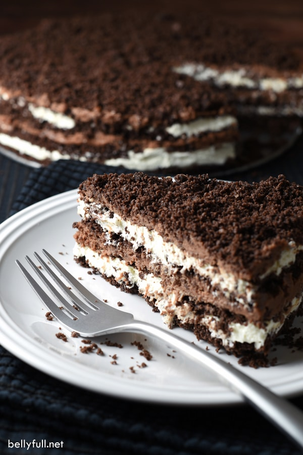 CHOCOLATE NUTELLA CREAM ICEBOX CAKE