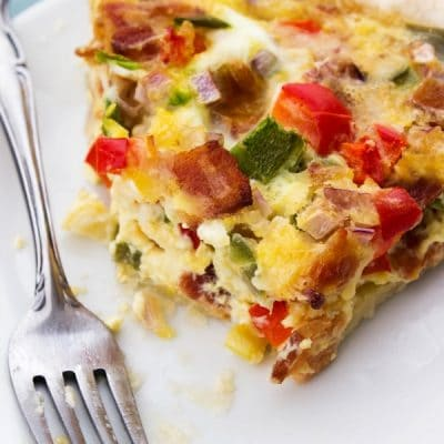 BACON FAJITA QUICHE