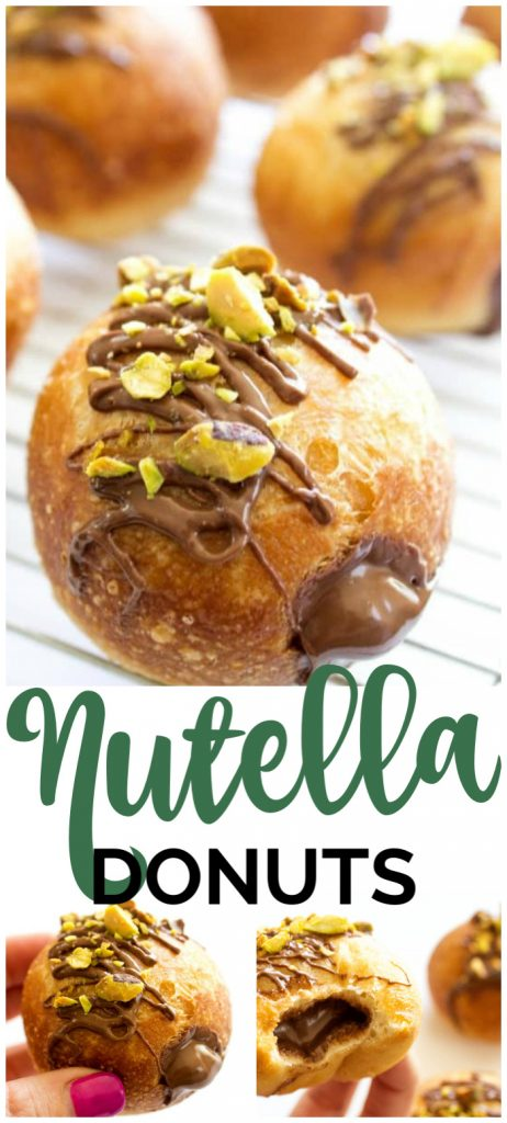 Nutella Donut Recipe pinterest image