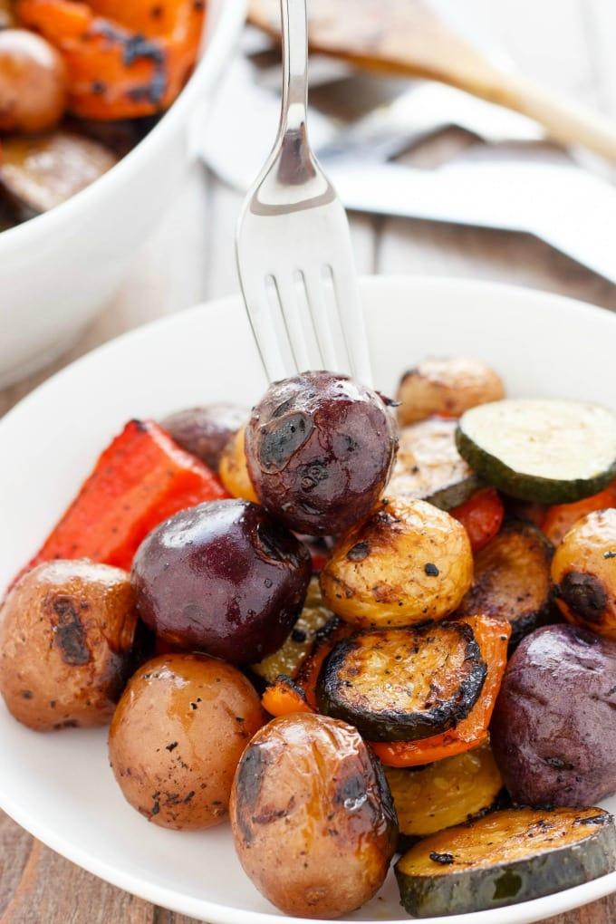 BBQ POTATOES & VEGETABLE MEDLEY