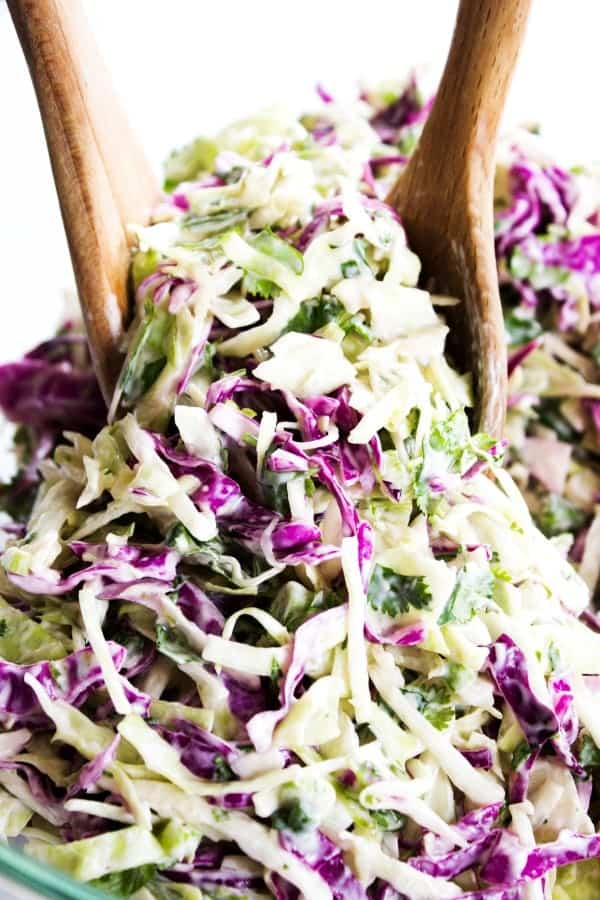 CILANTRO LIME COLESLAW deliciously light and refreshing, this twist on your traditional coleslaw is absolutely perfect for tacos, barbecues or as a salad.