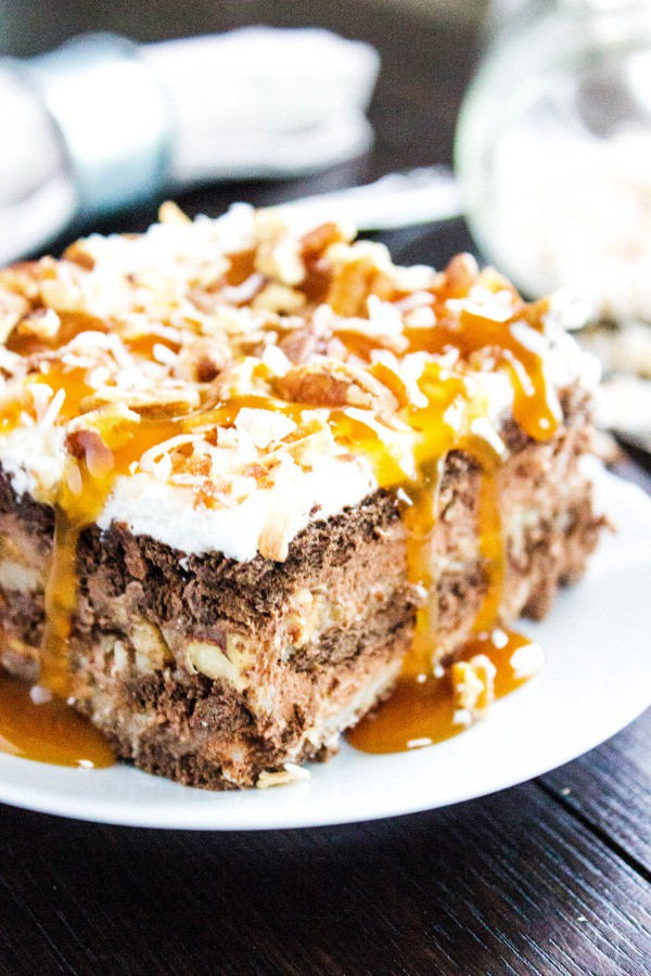 GERMAN CHOCOLATE ICEBOX CAKE