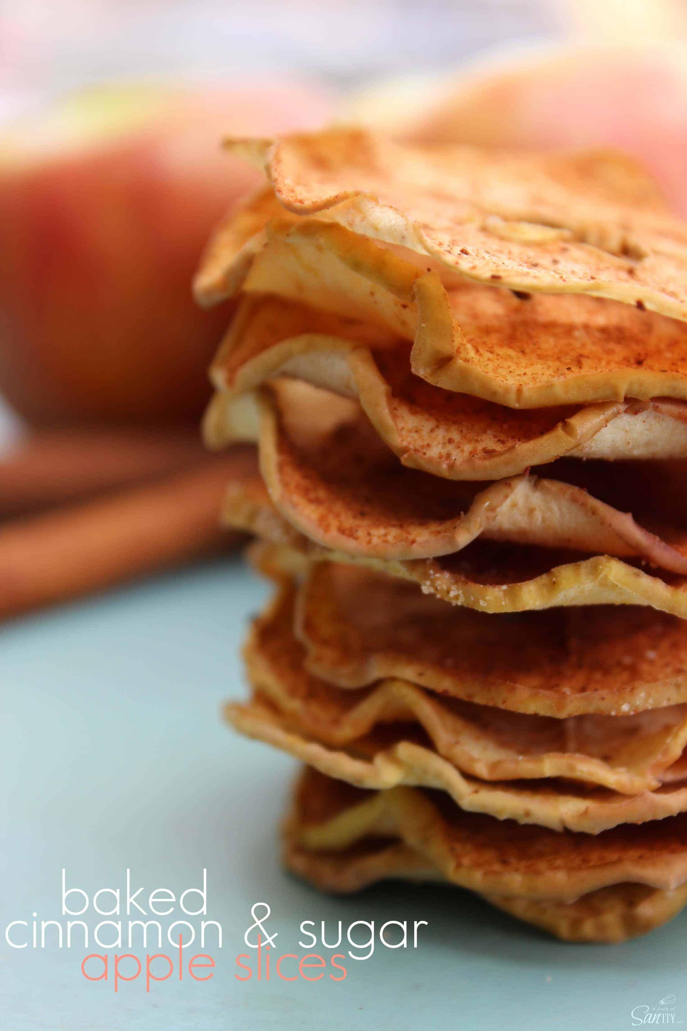 Baked Cinnamon Sugar Apple Slices