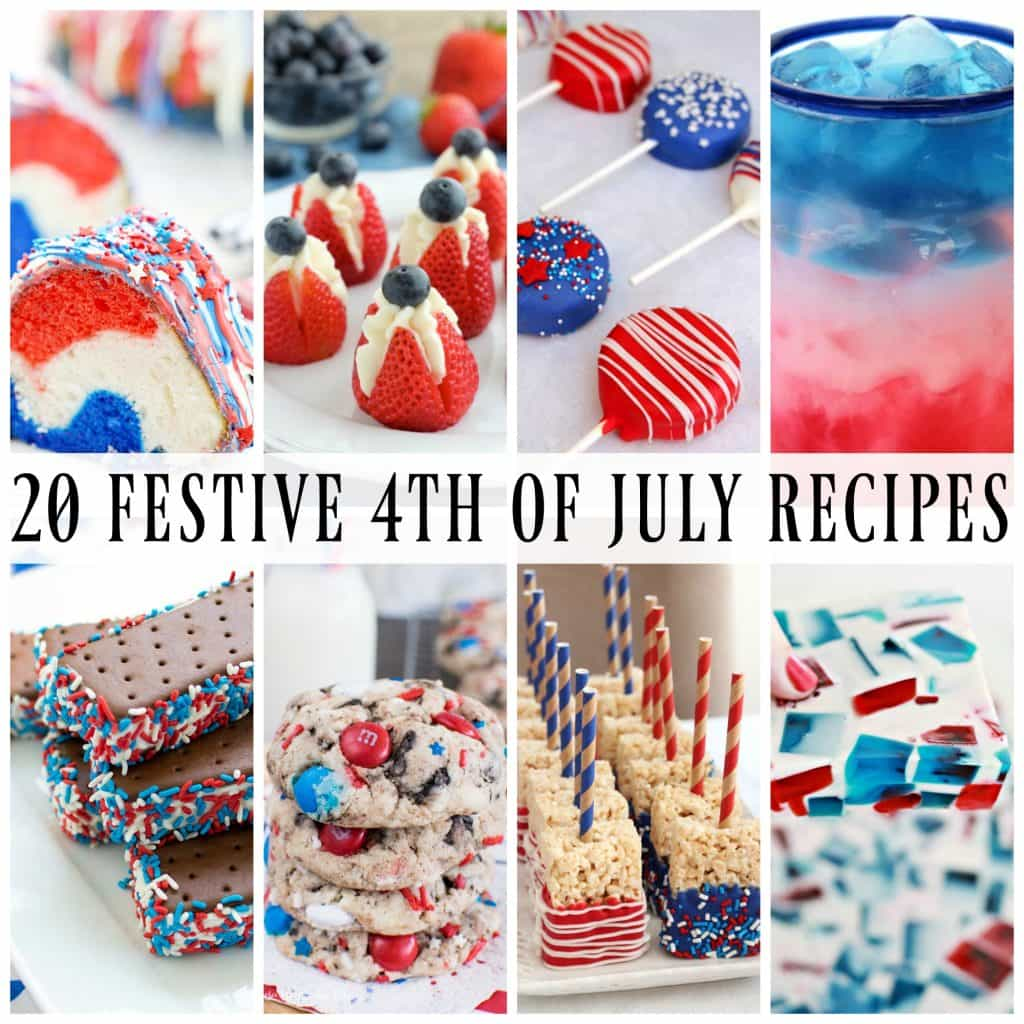 photo collage of 4th of July Recipes