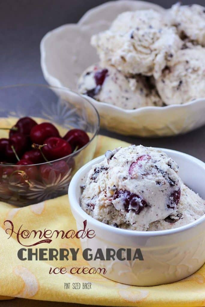 HOMEMADE CHERRY GARCIA ICE CREAM