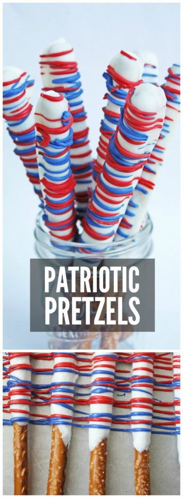 photo of dipped pretzel rods